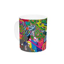 Psychedelic Garden by F eric Levy-Hadida 11 oz. Ceramic Coffee Mug