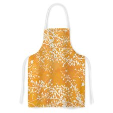 Twigs Silhouette by Iris Lehnhardt Tangerine Artistic Apron