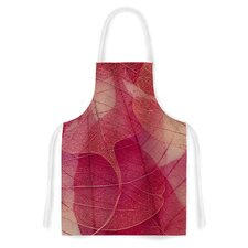 Delicate Leaves by Ingrid Beddoes Artistic Apron