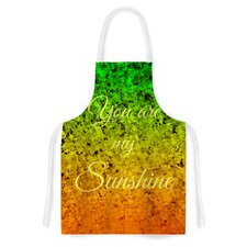 You Are My Sunshine by Ebi Emporium Green Artistic Apron
