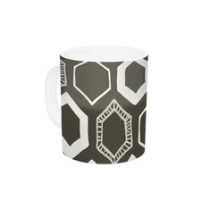 Hexy by Laurie Baars 11 oz. Geometric Ceramic Coffee Mug