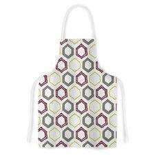 Hexy Small by Laurie Baars Geometric Artistic Apron