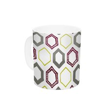 Hexy Small by Laurie Baars 11 oz. Geometric Ceramic Coffee Mug