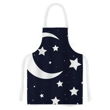 Moon & Stars by KESS Original White Artistic Apron