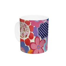Patchwork Flowers by Louise Machado 11 oz. Ceramic Coffee Mug