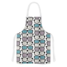 Spectacles Geek Chic by Michelle Drew Artistic Apron
