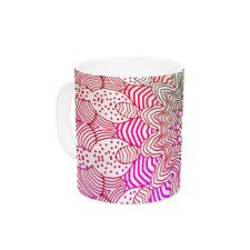 Rainbow Dots by Monika Strigel 11 oz. Ceramic Coffee Mug
