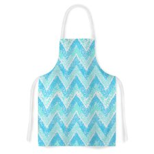 Mint Snow Chevron by Marianna Tankelevich Artistic Apron
