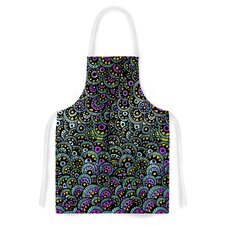 Peacock Tail by Pom Graphic Design Artistic Apron
