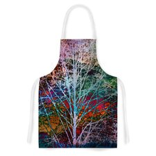 Trees in the Night by Sylvia Cook Artistic Apron