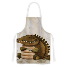 Smiley Crocodiley by Rachel Kokko Tan Artistic Apron