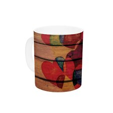 Wooden Heart by Louise Machado 11 oz. Ceramic Coffee Mug
