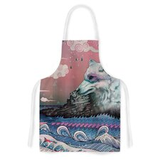 Lone Wolf by Mat Miller Artistic Apron