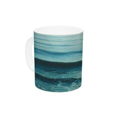 Somewhere by Myan Soffia 11 oz. Green Ceramic Coffee Mug