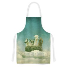 Never Stop Exploring by Monika Strigel Artistic Apron