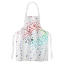 Rainbow Hearts by Monika Strigel Artistic Apron