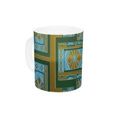Golden Art Deco Green & Blue by Nika Martinez 11 oz. Ceramic Coffee Mug