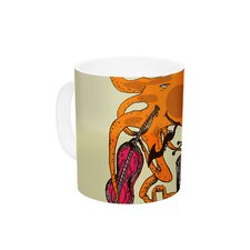 Playful Octopus by Marianna kelevich 11 oz. Ceramic Coffee Mug