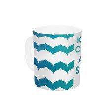 Keep Calm and Swim On by Nick Atkinson 11 oz. Ceramic Coffee Mug