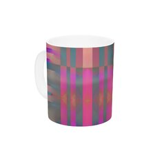 Tracking by Nina May 11 oz. Stripes Ceramic Coffee Mug