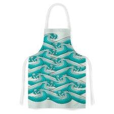 Ocean Retro Vibes by Pom Graphic Design Artistic Apron