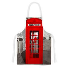 London by Oriana Cordero Red Artistic Apron