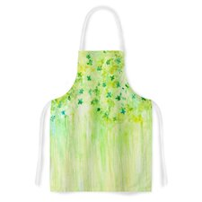 April Showers by Rosie Lime Green Artistic Apron