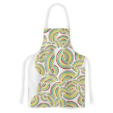 Rainbow Sky by Pom Graphic Design Artistic Apron