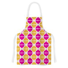 Moroccan Dreams by Apple Kaur Designs Orange Artistic Apron