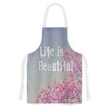 Life is Beautiful by Rachel Burbee Artistic Apron
