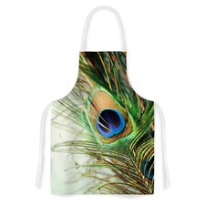 Peacock Feather by Sylvia Cook Artistic Apron
