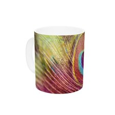 Peacock Feather by Sylvia Cook 11 oz. Ceramic Coffee Mug