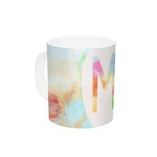 Meh by Skye Zambrana 11 oz. Rainbow Watercolor Ceramic Coffee Mug