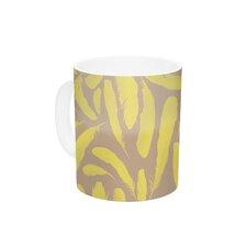 Yellow Feather by Skye Zambrana 11 oz. Tan Ceramic Coffee Mug