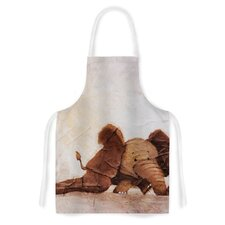 The Elephant with the Long Ears by Rachel Kokko Artistic Apron