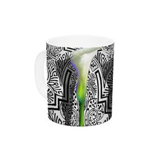 Three Lily by S. Seema Z 11 oz. Ceramic Coffee Mug