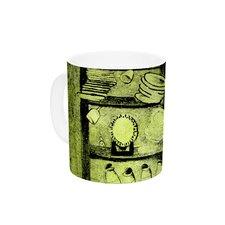 Taurus by Theresa Giolzetti 11 oz. Green Ceramic Coffee Mug