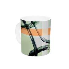 Sixties Stripe by Theresa Giolzetti 11 oz. Teal Ceramic Coffee Mug