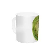 Leeks by Theresa Giolzetti 11 oz. Green Ceramic Coffee Mug