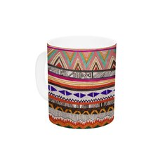 Native Tessellation by Vasare Nar 11 oz. Ceramic Coffee Mug