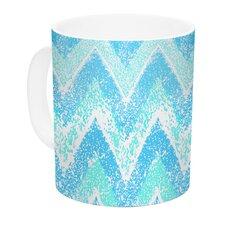 Mint Snow Chevron by Marianna Tankelevich 11 oz. Chevron Ceramic Coffee Mug