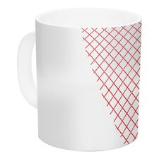 Cross My Heart by Belinda Gilles 11 oz. White Ceramic Coffee Mug