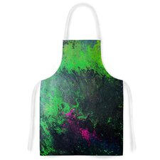 Acid Rain by Claire Day Green Artistic Apron