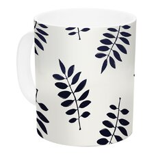 Pagoda Leaf Small by Laurie Baars 11 oz. White Ceramic Coffee Mug