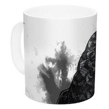 Crow by Sophy Tuttle 11 oz. White Ceramic Coffee Mug