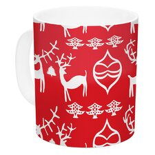 Antler Fun by Miranda Mol 11 oz. Holiday Ceramic Coffee Mug