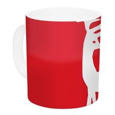 Reindeer by Miranda Mol 11 oz. Holiday Ceramic Coffee Mug