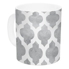 Moroccan by Amanda Lane 11 oz. White Ceramic Coffee Mug