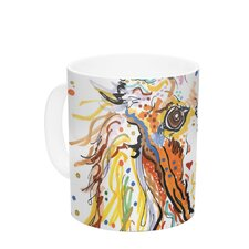 Lily by Rebecca Fischer 11 oz. Poodle Ceramic Coffee Mug