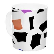 Geo Fun by Gabriela Fuente 11 oz. White Ceramic Coffee Mug
